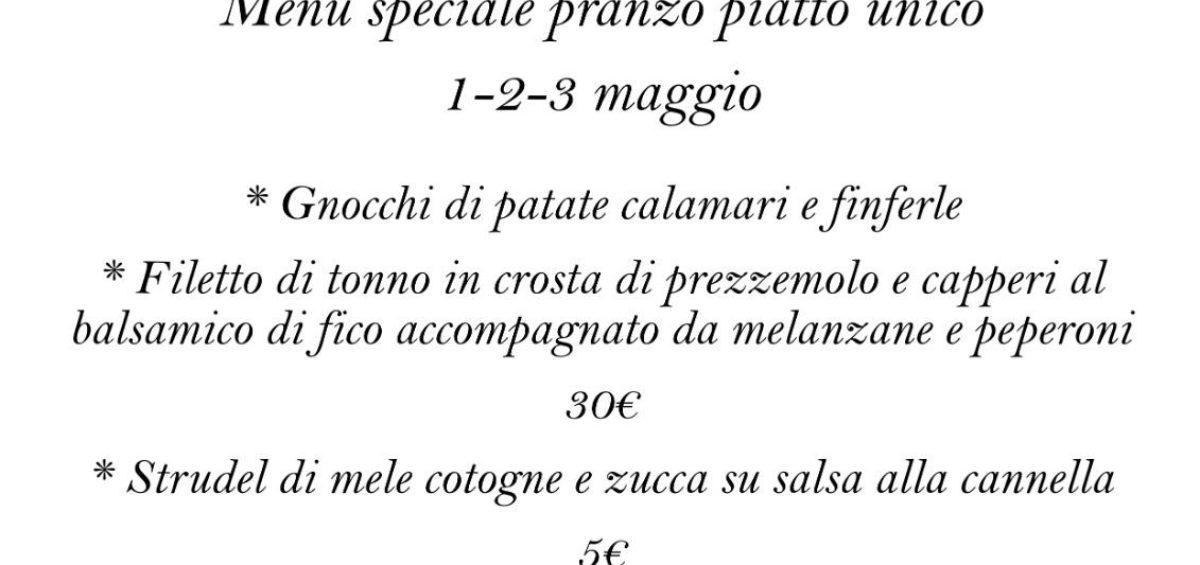 Menù d'Asporto 1-2-3 Maggio | Osteria Due Spade Trento